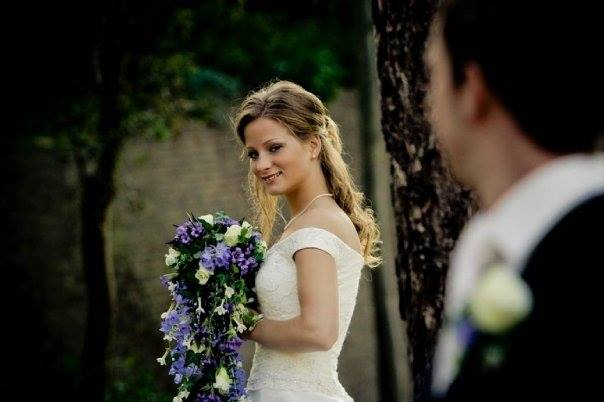 bruidsboeket blauw